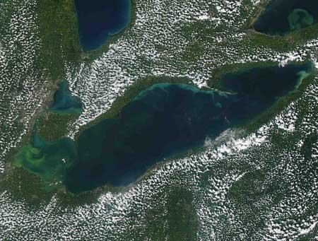 Lake erie bottom sediment