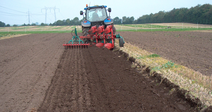 Deep tilling in Denmark to aerate and prepare for planting